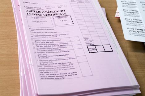 Leaving cert exam scripts