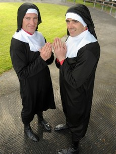 Here's your 'jockeys dressed as nuns' picture of the day