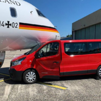 German airport worker crashes van into Angela Merkel's plane while attempting to take a picture of it