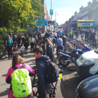 Cyclists protest outside Dáil to highlight 'need for better infrastructure'
