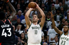 Advantage Bucks as Lopez-inspired Milwaukee rally past Raptors in opener