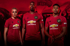 Pogba features as Man United unveil new treble-inspired home kit