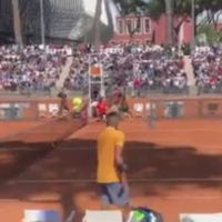 Nick Kyrgios smashes racket and throws chair onto the court in Italian Open meltdown