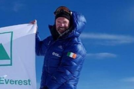 Seamus Lawless at the summit of Mount Everest yesterday