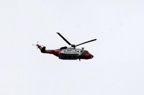 Irish Coastguard rescue helicopter, file photo.