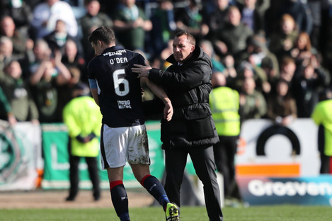 O'Dea pictured with Brendan Rodgers (file pic).
