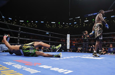 Wilder retains heavyweight title with ferocious first-round KO of Breazeale