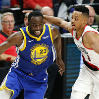 Comeback victory in Portland leaves Warriors on verge of NBA Finals