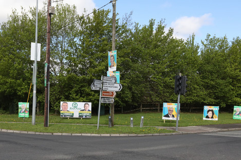 Election posters in Kildare