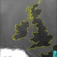 Satellite Image of Clear Skies over Ireland of the Day
