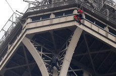 Eiffel Tower remains closed after climbing man causes evacuation