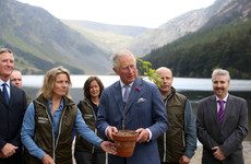 Prince Charles visits Wicklow Mountains National Park during day two of Ireland visit