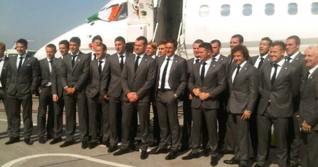'Wheels up' -- Ireland squad suited and booted for Euro 2012 departure