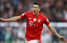 Lewandowski scores twice to secure German Cup and help Bayern wrap up domestic double
