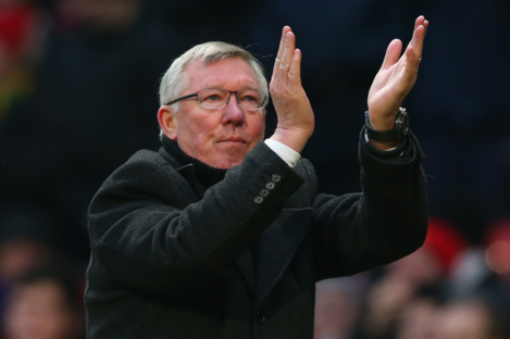 Fergie was back at the Theatre of Dreams yesterday.