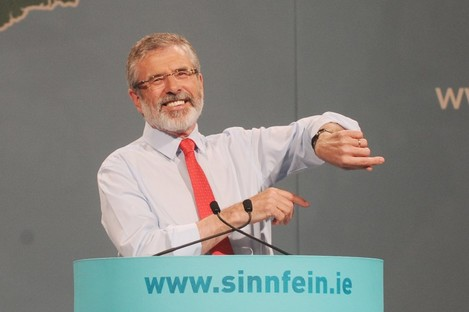 Gerry Adams at his party's Ard Fheis at the weekend