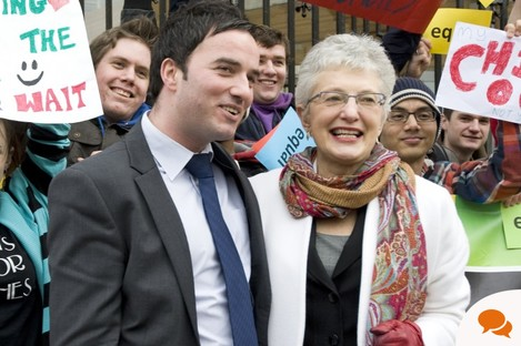 Senator Katherine Zappone pictured with Labour TD John Lyons