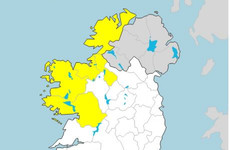 Rainfall warning in place for five counties until tomorrow night