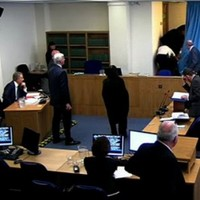 Protester disrupts Tony Blair evidence at Leveson inquiry