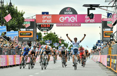 Italy's Cima sprints to Giro 18th stage win, Carapaz in pink