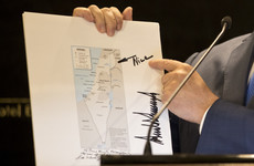 Donald Trump sent Benjamin Netanyahu a signed map of Israel with the word 'nice' beside annexed territory