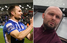 Irish footballer's head shave raises over €4,500 for student undergoing treatment for cancer