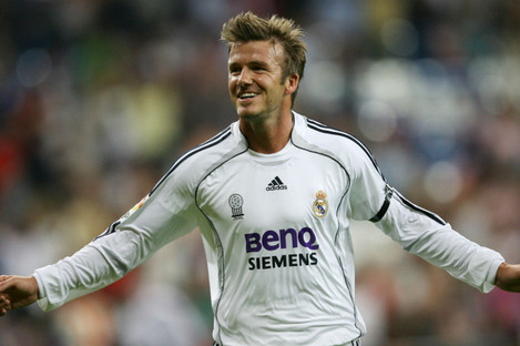 David Beckham in action for Real Madrid in 2006.
