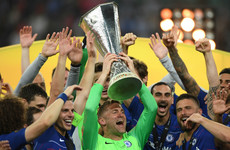Rob Green retires after lifting Europa League trophy in full kit despite not being in Chelsea squad