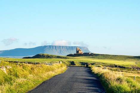 Driving towards Benbulben, Co Sligo.