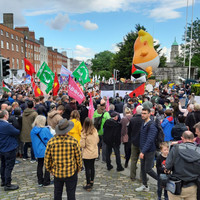 'He's stupid, arrogant and vulgar': Thousands attend march against Trump visit in Dublin city centre