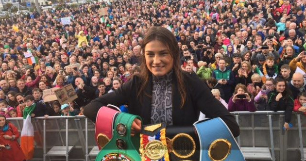 'We are immensely proud': Crowds turn out to welcome Katie Taylor home to Bray