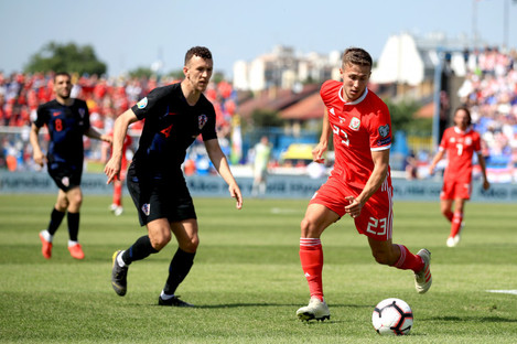 Perisic in action against Wales' Will Vaulks on Saturday.