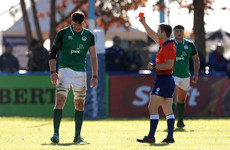 Ireland's Baird faces anxious disciplinary wait after red card for high tackle