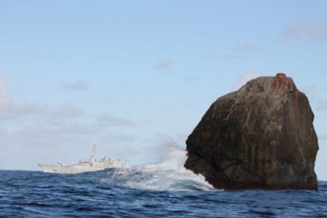 File photo of the Irish Naval Service vessel, LÉ Róisín, on routine patrol at Rockall