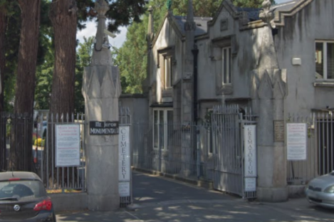 The entrance to Mount Jerome Cemetery in Harold's Cross.