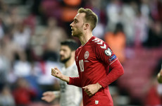 Eriksen on target as Denmark keep pace with Ireland