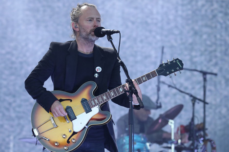 File photo of Thom Yorke performing of Radiohead performing onstage.