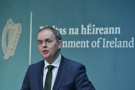 File photo. Minister for Education Joe McHugh