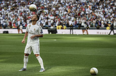 Hazard unveiled to 50,000 Real Madrid fans at Santiago Bernabeu