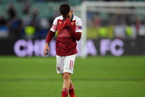 Lucas Torreira after Arsenal's Europa League final defeat to Chelsea.
