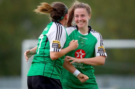 Eleanor Ryan-Doyle (right) scored the winner for Peamount.