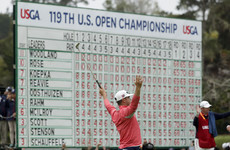 Woodland leads Rose and Koepka by two through nine at US Open