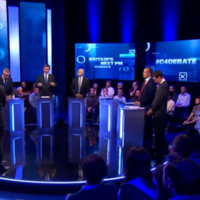 Tory leadership candidates clash over Brexit and no-show Boris in first TV debate