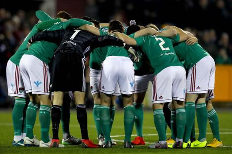 Cork City team huddle (file pic).