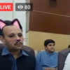 Cat filter accidentally left on during Pakistani minister's live press conference