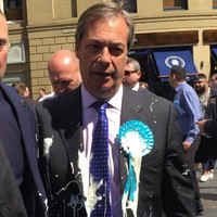 Man who threw milkshake over Nigel Farage ordered to pay compensation