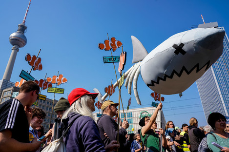 Protesters rally against rising rents in Berlin in April