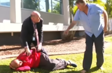 Australian police officer breaks off from press conference to rugby tackle man to the ground