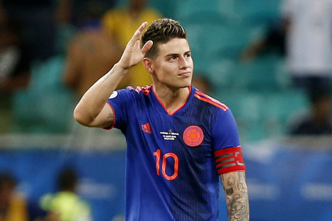 Colombia and Real Madrid midfielder James Rodriguez