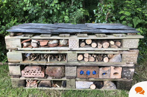 Michael's insect hotel.